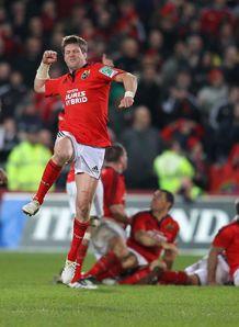 Munster v Northampton Ronan O Gara drop goal