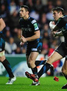 Dan Biggar Ospreys v Biarritz Heineken Cup Pool 5 Liberty Stadium Nov 2011