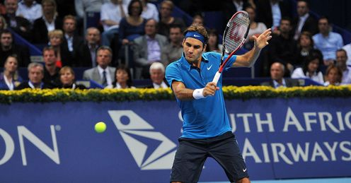 Poised to strike: Federer is aiming to win his hometown title for the fifth time
