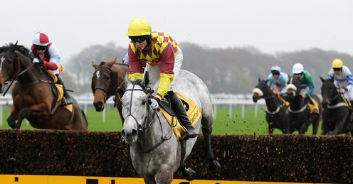 Conor O'Farrell rides Dynaste to victory at Haydock in November
