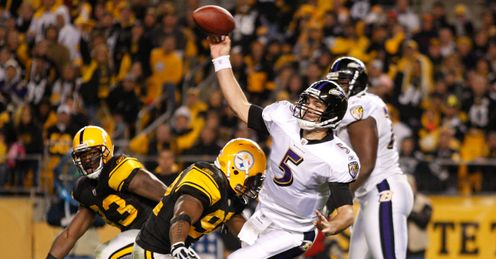 Falling down: Flacco and the Ravens are struggling