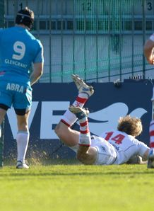 Andrew Trimble Ulster scores v Aironi