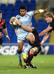 Cardiff v Edinburgh Casey Laulala