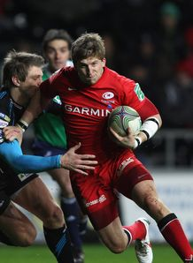Dan Biggar Dave Strettle Ospreys v Saracens 2011