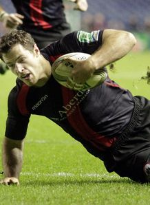 Edinburgh s Tim Visser scores nov 2011