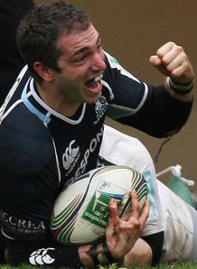Federico Aramburu celeb try Glasgow v Montpellier 2011