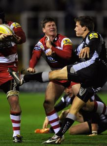 Jordi Pasqualin Jim Hamilton Newcastle Falcons v Gloucester  Aviva Premiership