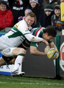 Matt Smith Chris Ashton Leicester Tigers v Northampton Saints  Aviva