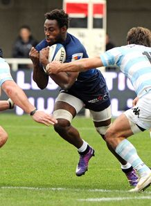 Montpellier s Fulgence Ouedraogo v Racing