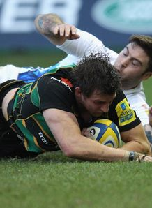 Tom Wood try Northampton Bath