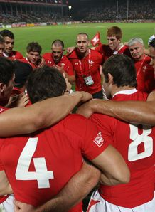 Wales sevens squad in Dubai