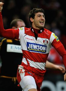 Jonny May Gloucester v Wasps Aviva Premiership Kingsholm Dec 2011