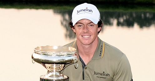 Rory McIlroy after he won the Hong Kong Open last year