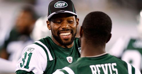 Corner-stones: Cromartie (left) and Revis can stifle Giants' attack