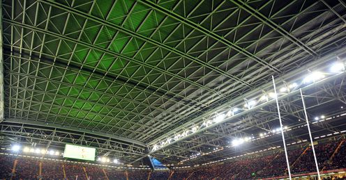 Millennium Stadium with roof on