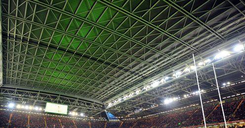 Millennium Stadium with roof on