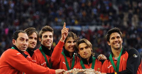 Smiles better: Nadal beams after helping to win the Davis Cup but would now benefit from a break