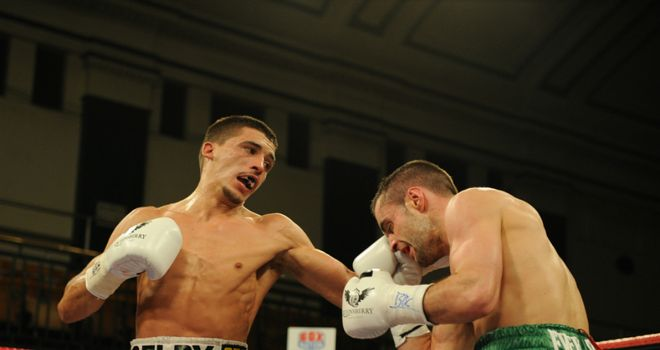 Lee Selby on the attack. Picture courtesy of leighdawneyphotography.com