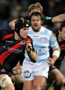 Edinburgh Rugby s Ross Rennie v RAcing 2012