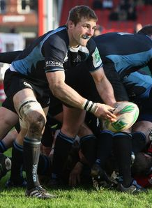 John Barclay at the base for Glasgow Warriors