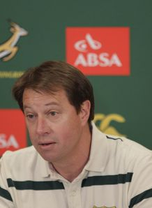 Jurie Roux at a press conference