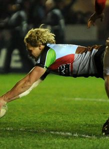 Matt Hopper scores Harlequins v Gloucester
