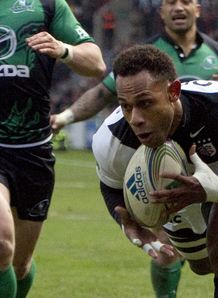 Timoci Matanavou scoring for Toulouse against Connacht
