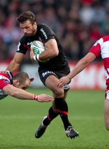 Toulouse s fullback Clement Poitrenaud v gloucester 2011