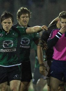 Connacht celebrating Heineken Cup win over Harlequins