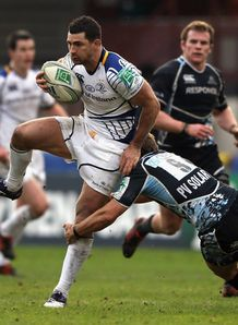 Rob Kearney Leinster v Glasgow Heineken Cup Pool 3 Firhill Jan 2012