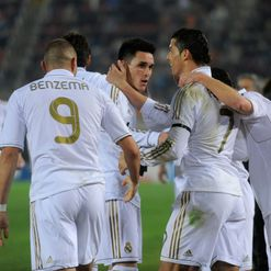 Ral celebrate Callejon's goals