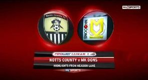 Notts County 1-1 MK Dons
