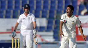 Rehman: took a flurry of wickets in the second Test