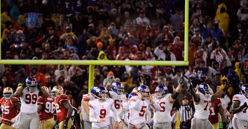 New York Giants: Won at Candlestick Park in the NFC Championship Game last season