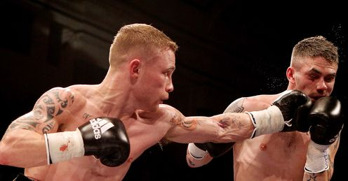 Jury's out: Frampton (left) beat Hughes but did not overwhelm Glenn