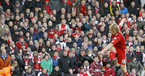 Dirk Kuyt goal Liverpool vs Manchester United