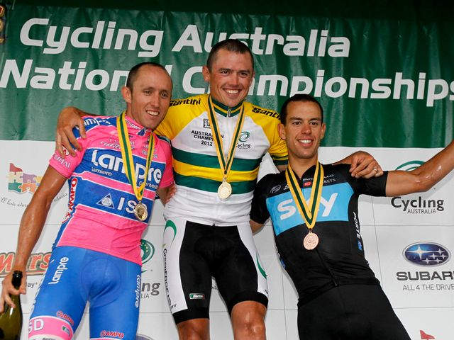 Porte (right): Fine third in Australian nationals