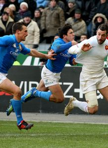 Julien Malzieu France Italy 6N 2012
