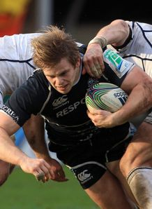 Pat MacArthur taking contact for Glasgow Warriors