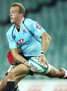 Sarel Pretorius passing for Waratahs in pre season