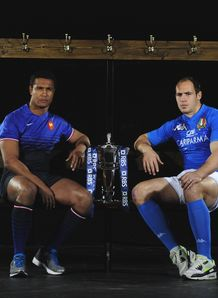 Thierry Dusautoir Sergio Parisse pre 6N 2012