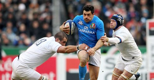 Andrea Masi France v Italy