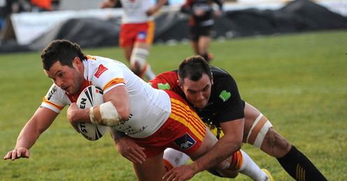 Catalan Dragons Clint Greenshields try 2012