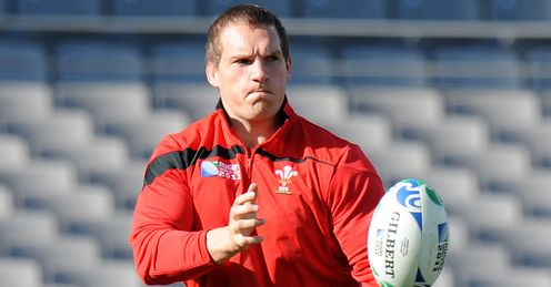 Gethin Jenkins Wales training RWC 2012