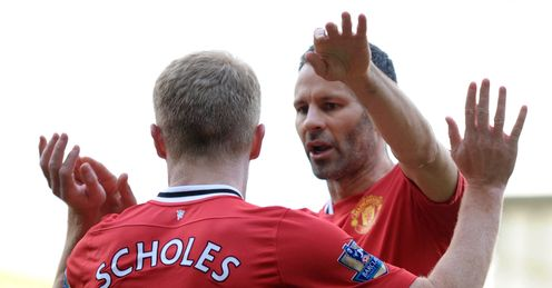 Schoels & Giggs: scored in the same Premier League match 16 times