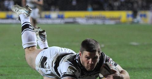 Kirk Yeaman try Hull v London Broncos 2012