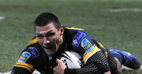 Leeds Rhinos Ryan Hall solo try 2012