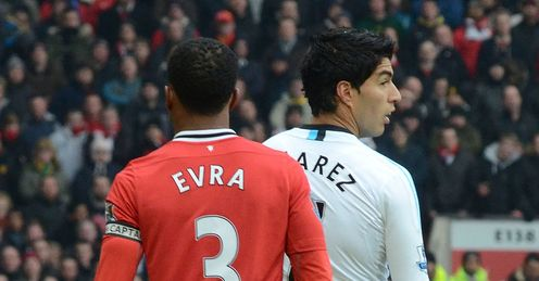 Evra and Suarez: must meet face-to-face, says Kammy