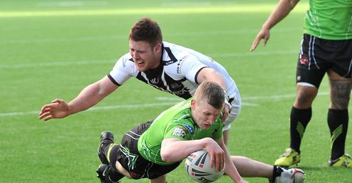 Gareth Owen try Anthony Mullally Widnes v Salford