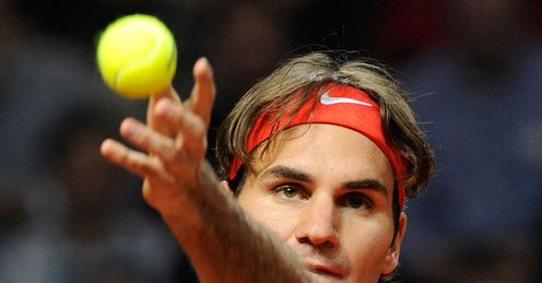 Eye on the ball: Federer will be eager to bounce back from his Davis Cup defeat